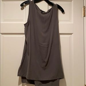 Eileen Fisher silk tank top grey size medium